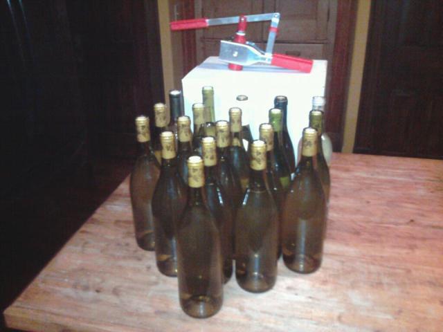 Pear wine bottled